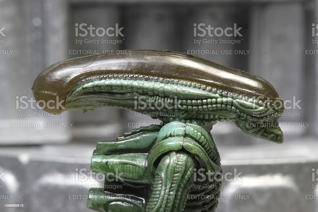 Alien in the Future royalty-free stock photo