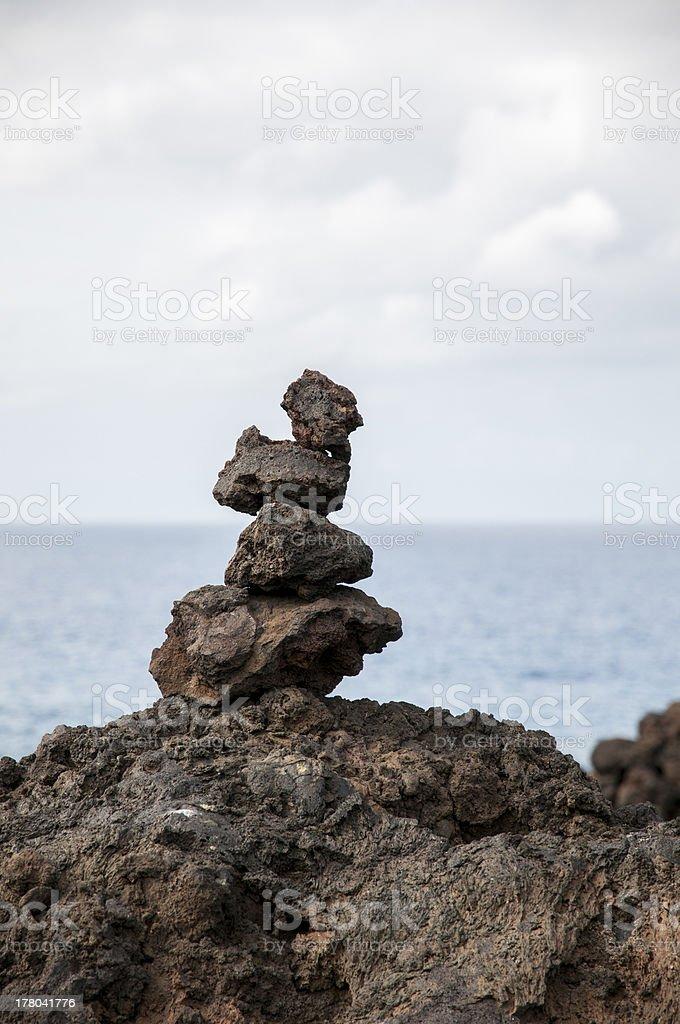 alien landscape of Lanzarote stock photo