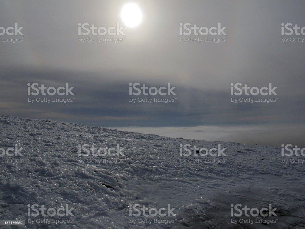 Alien Landscape of Mt Moosilauke in Winter royalty-free stock photo
