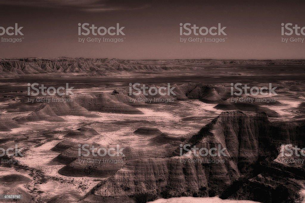 Alien Landscape royalty-free stock photo