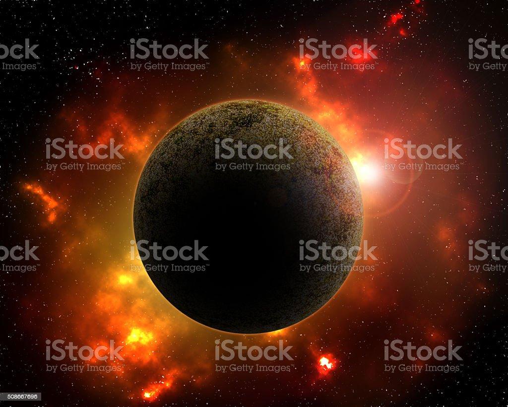 Alien planet. stock photo
