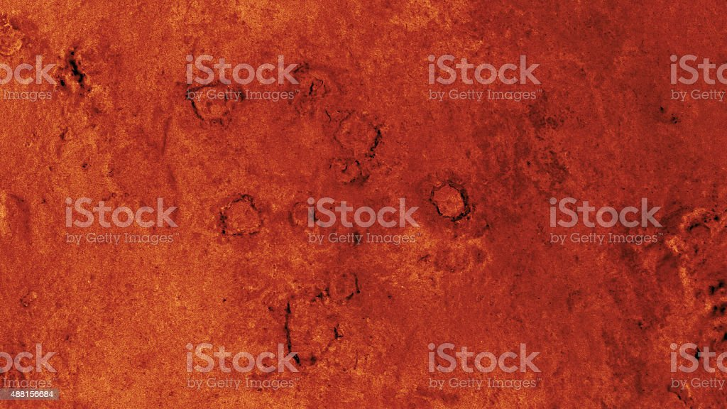 Alien planet with craters - 4 stock photo