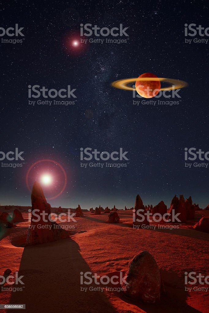Alien Planetoid Landscape stock photo