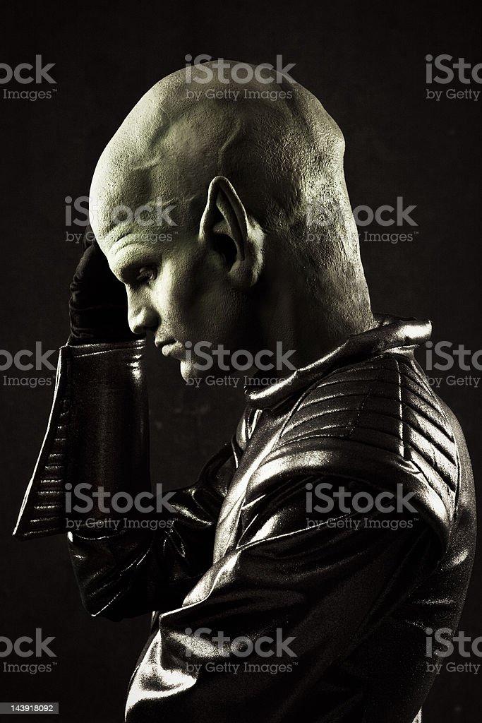 Alien Portrait stock photo