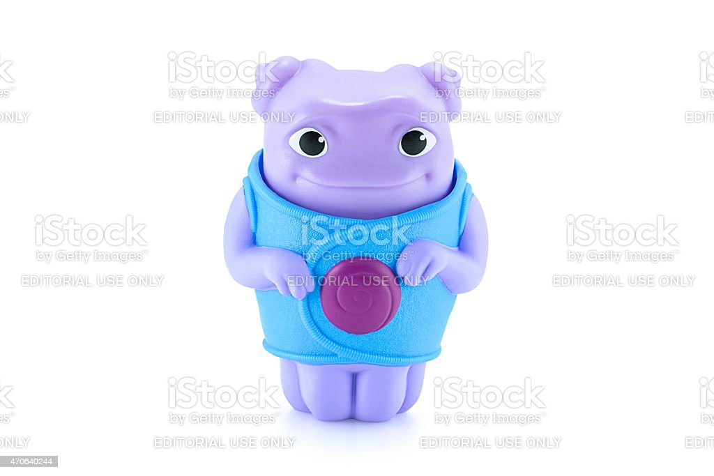 OH alien purple color toy character from Dreamworks HOME animati stock photo