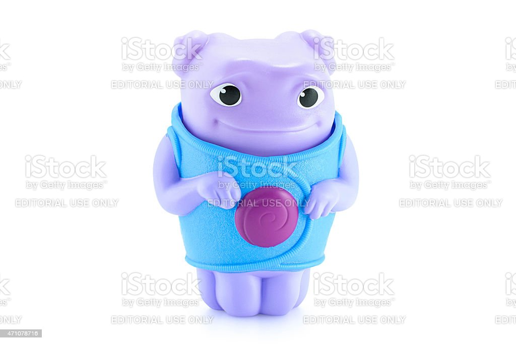 OH alien purple color toy character stock photo