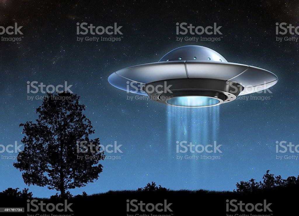 Alien spaceship 3d illustration stock photo