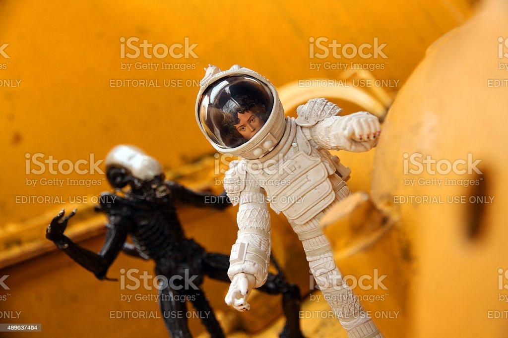 Alien Stalking Ripley stock photo