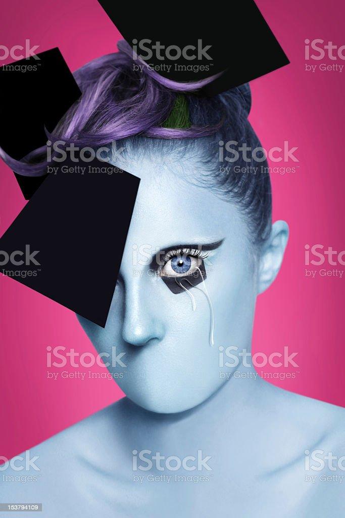 Alien tears royalty-free stock photo