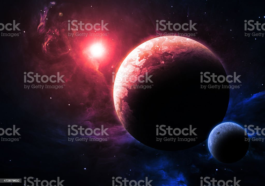 Alien World - Elements of this Image Furnished by NASA stock photo