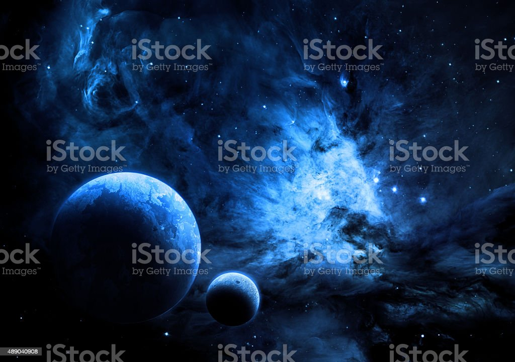Alien World In Space stock photo