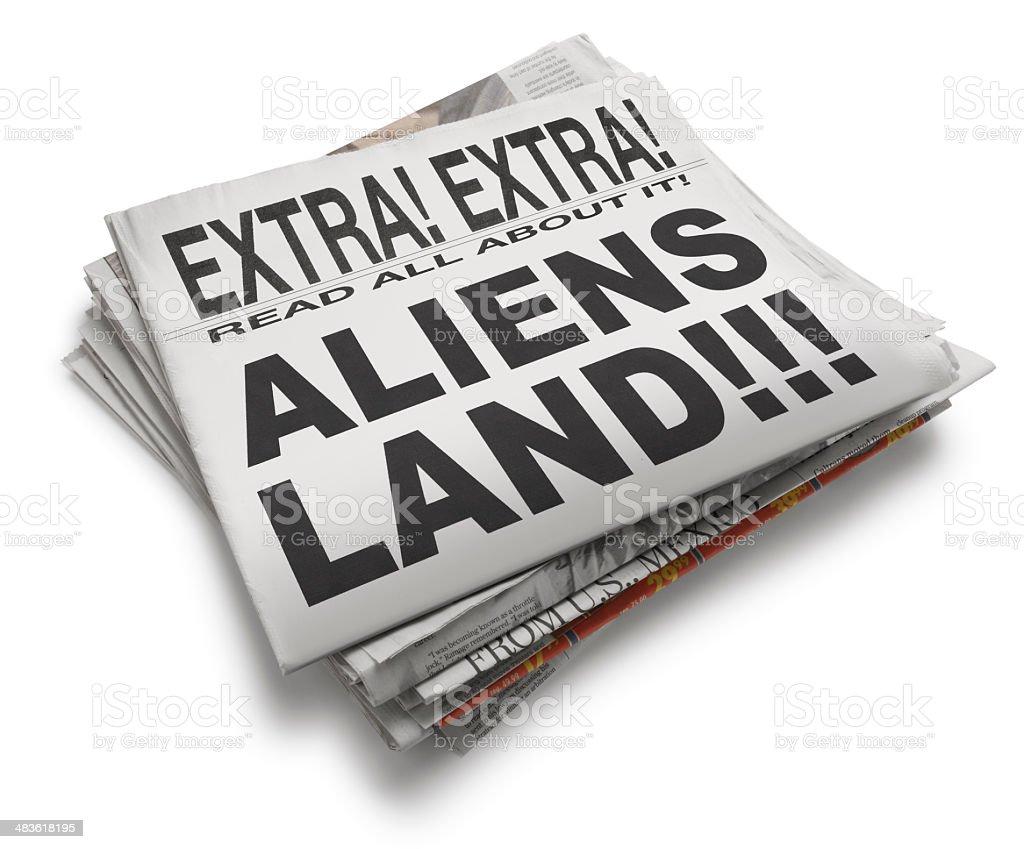 Aliens Land royalty-free stock photo