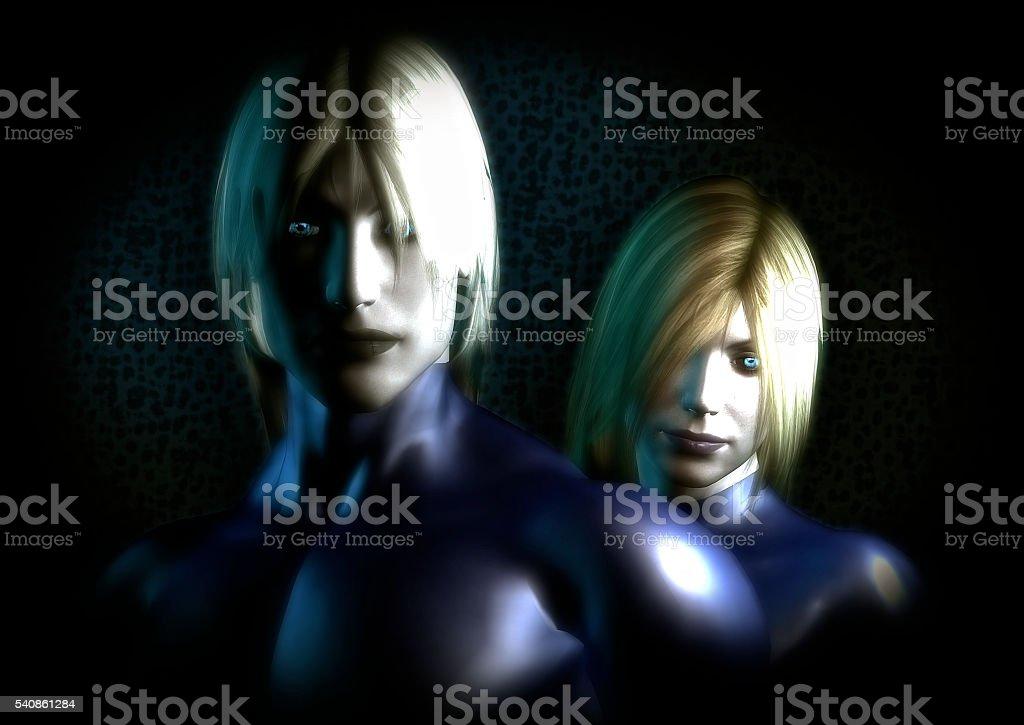 Aliens series 17: Alien 'Nordic' stock photo