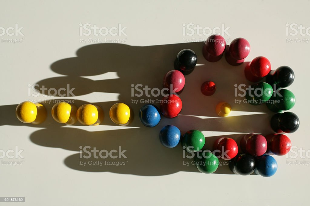 Aligned tokens stock photo