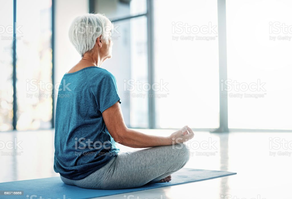 Aligning mind and body stock photo