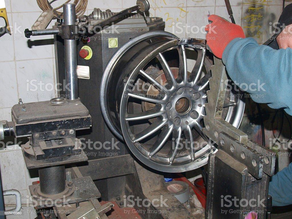 alignment of drives titanium stock photo