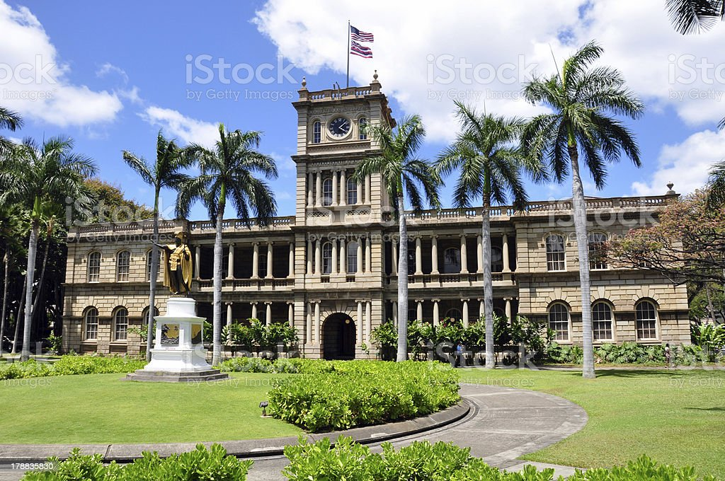 Ali'iolani Hale stock photo