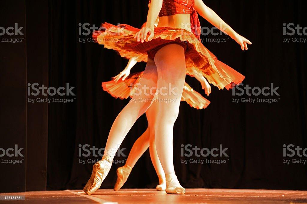 Alike dancers royalty-free stock photo
