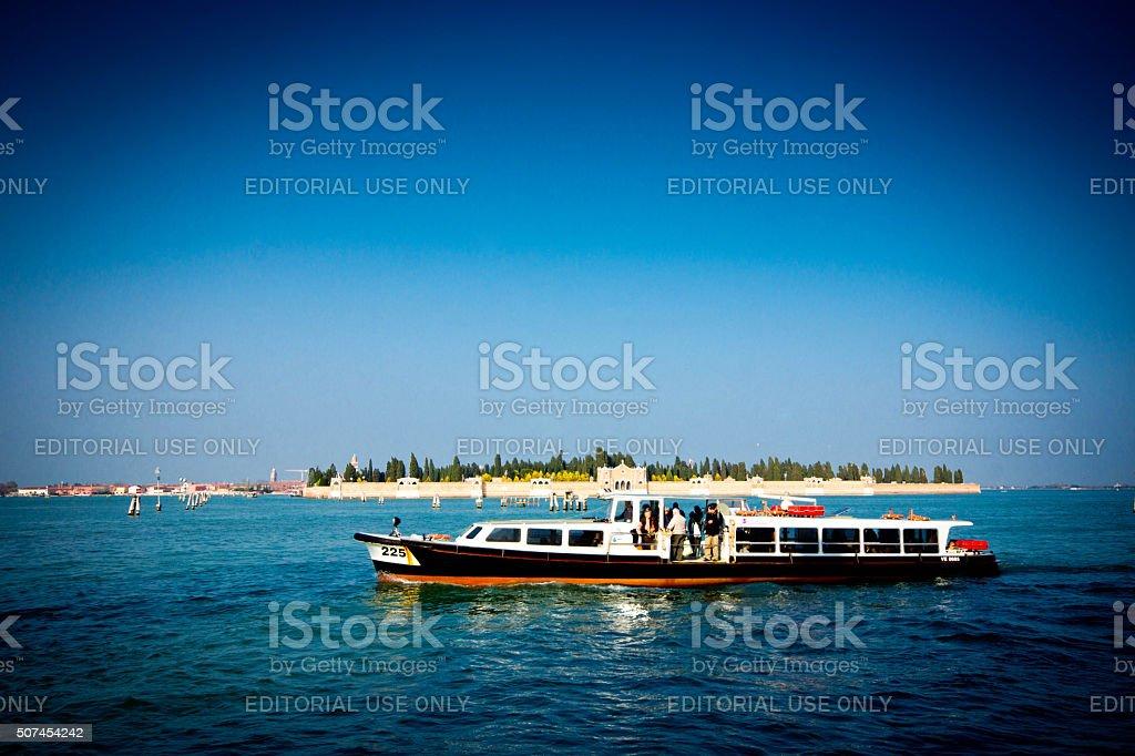 Alilaguna waterbus stock photo