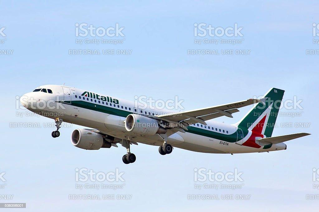 Alitalia Airbus A320 stock photo