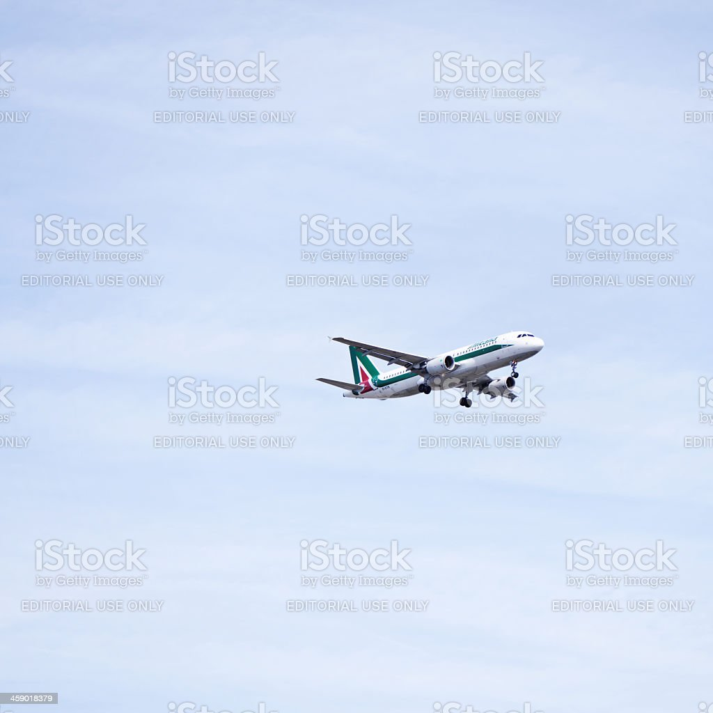 Alitalia airbus stock photo