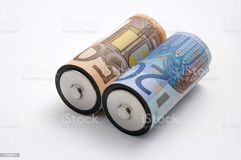 Alkaline Batteries - Cost of Energy I royalty-free stock photo