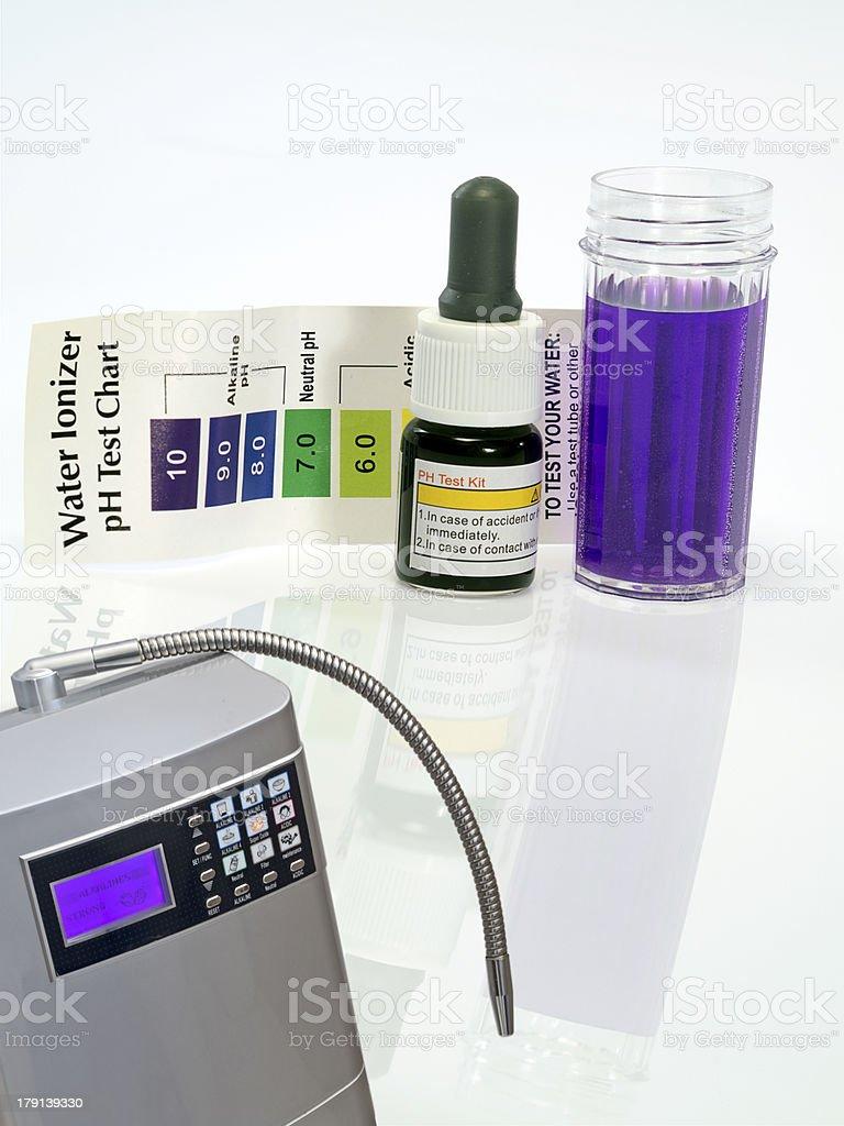 Alkaline water ionizer test ph reagent royalty-free stock photo