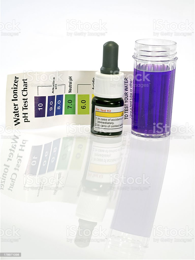 Alkaline water test ph reagent royalty-free stock photo