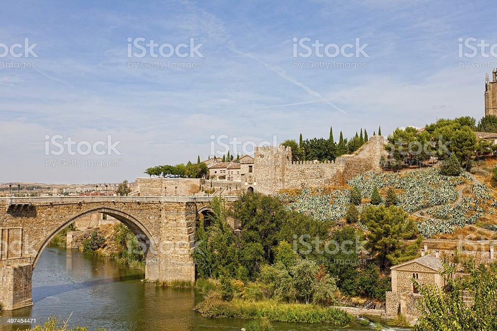 Alkantar Bridge in Toledo stock photo