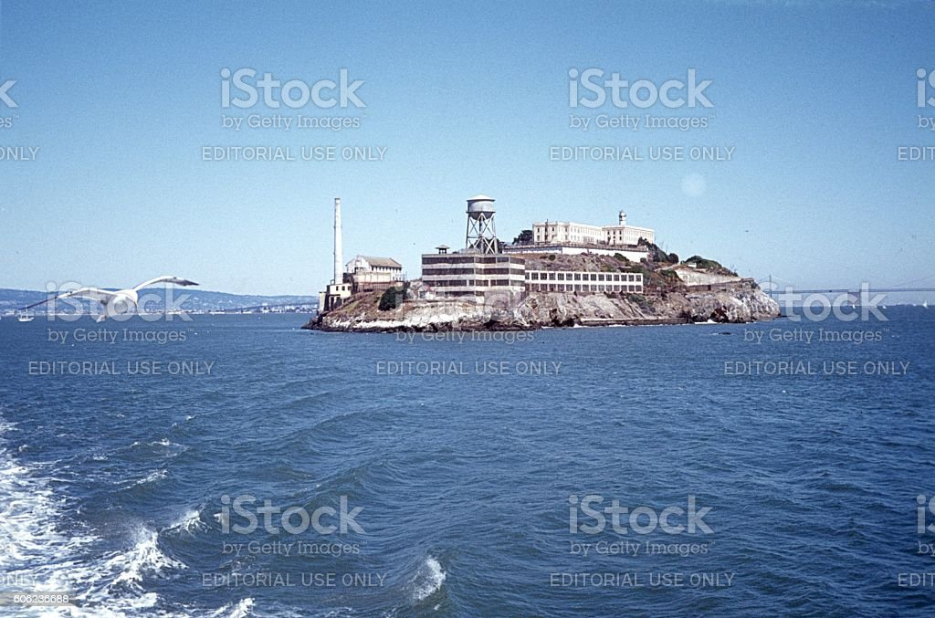 Alkatraz Island, North Beach, San Francisco stock photo