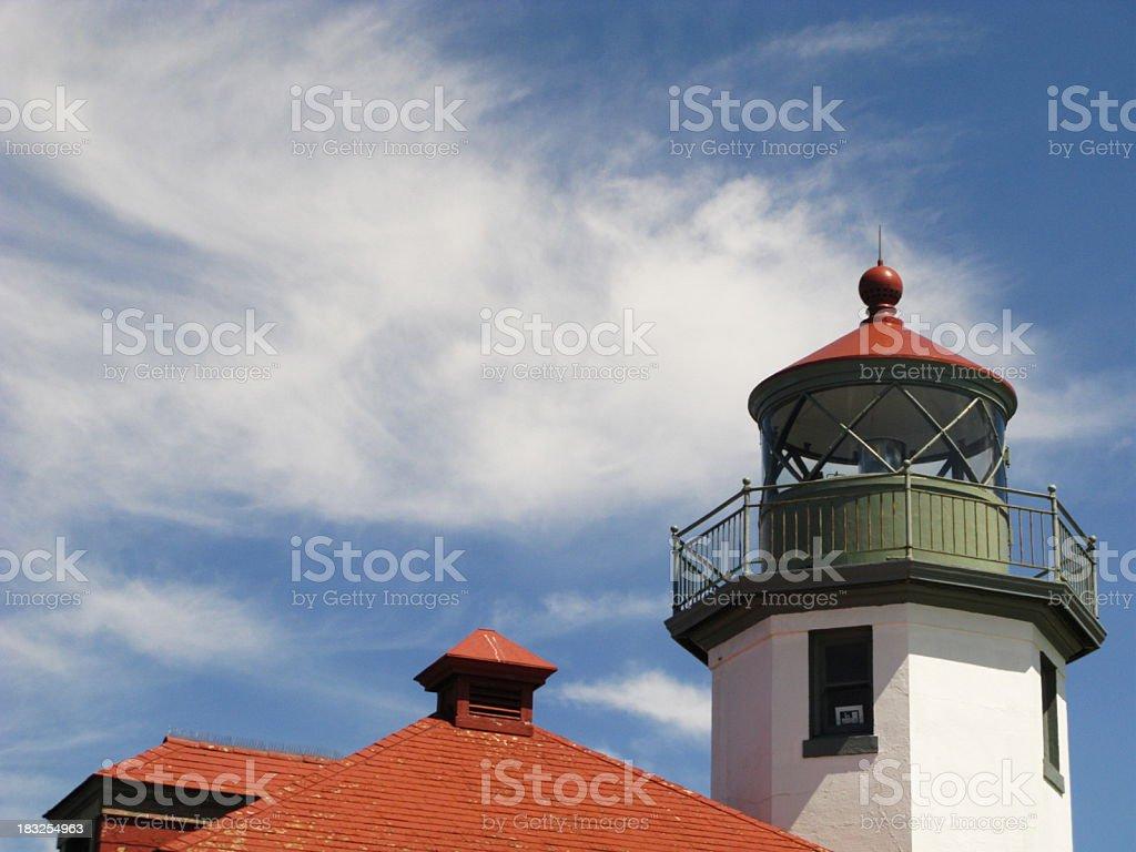 Alki Point Lighthouse stock photo