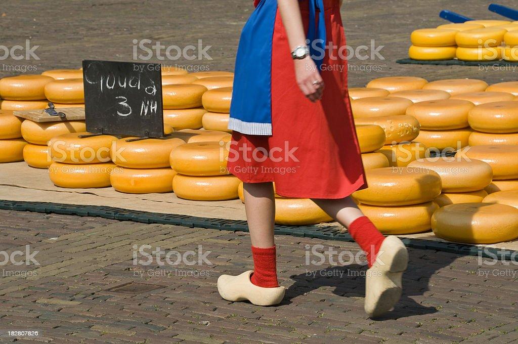Alkmaar Cheese Market royalty-free stock photo