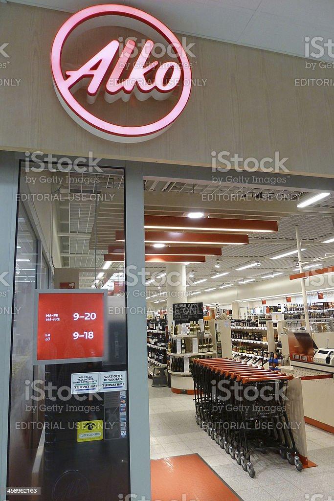 Alko shop stock photo