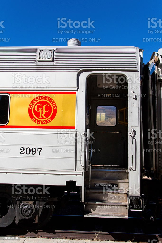 All Aboard Grand Canyon Train stock photo