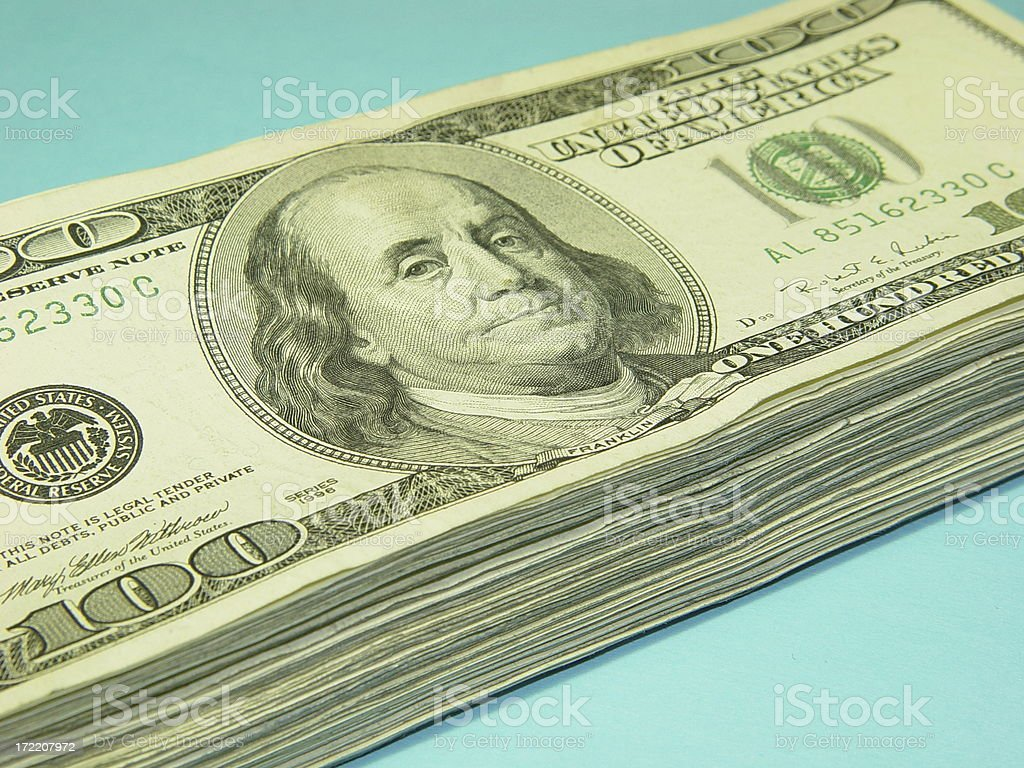 All about the benjamins stock photo