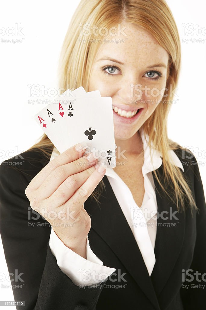 All Aces royalty-free stock photo