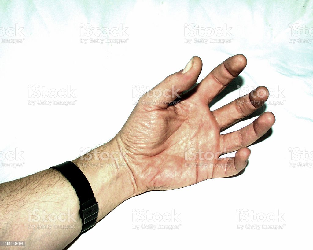 All Alone Hand In Rage royalty-free stock photo
