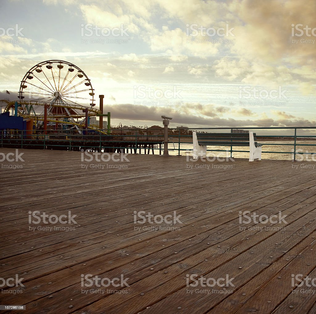 All alone on the Santa Monica pier (no man) royalty-free stock photo