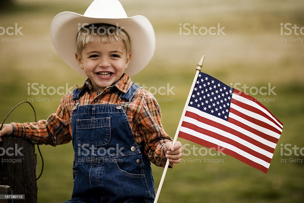 All American Boy stock photo