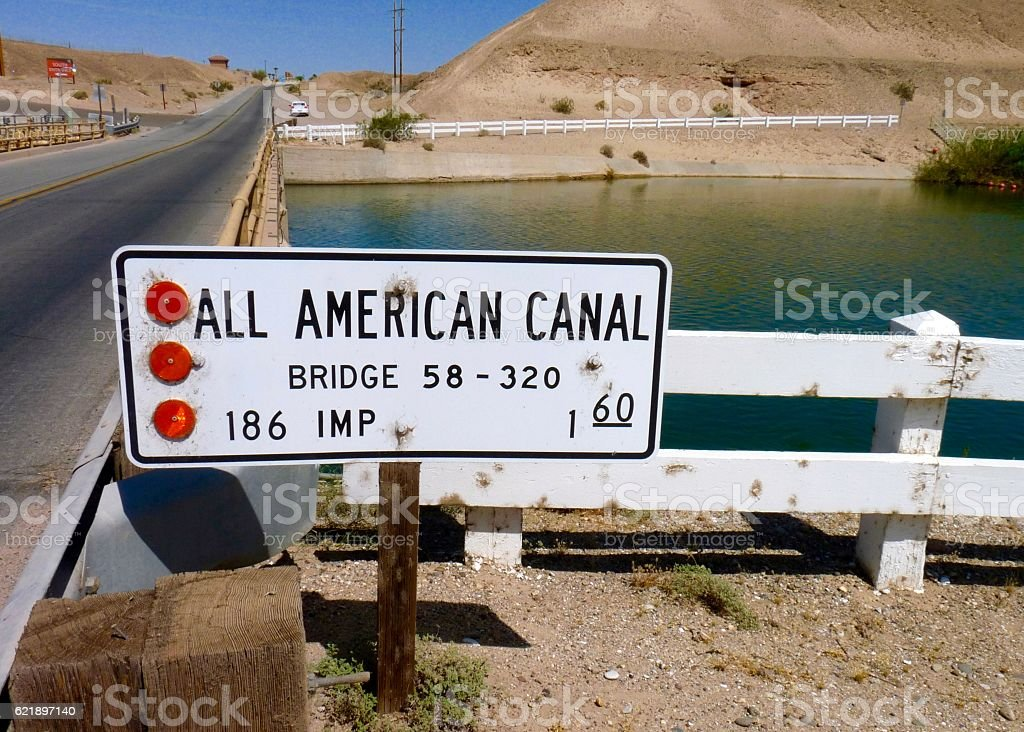 All American Canal stock photo