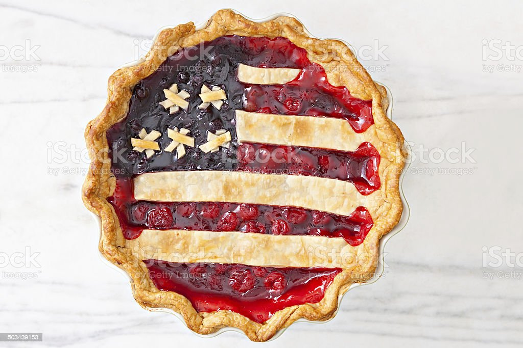 All American Cherry Pie stock photo