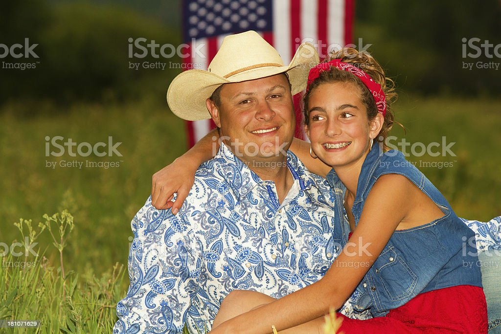 All American Father with His Daughter royalty-free stock photo