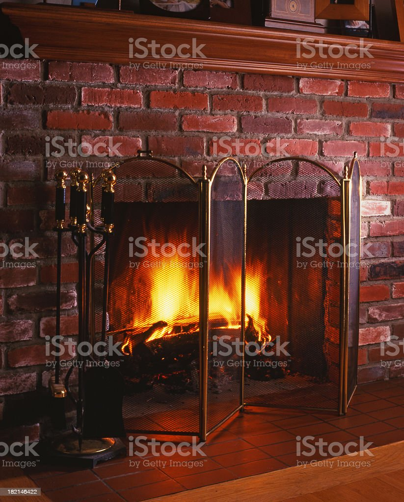 All American Fireplace stock photo
