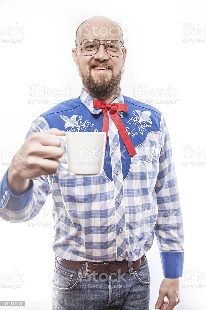 All American Man Drinking Coffee royalty-free stock photo