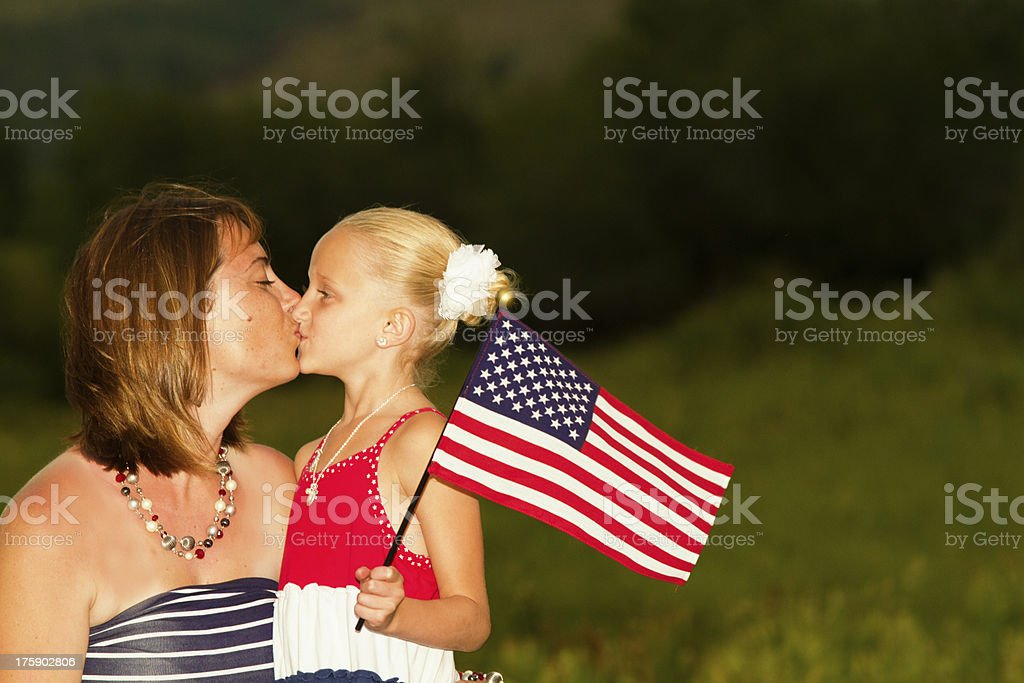 All American Mother and Daughter royalty-free stock photo