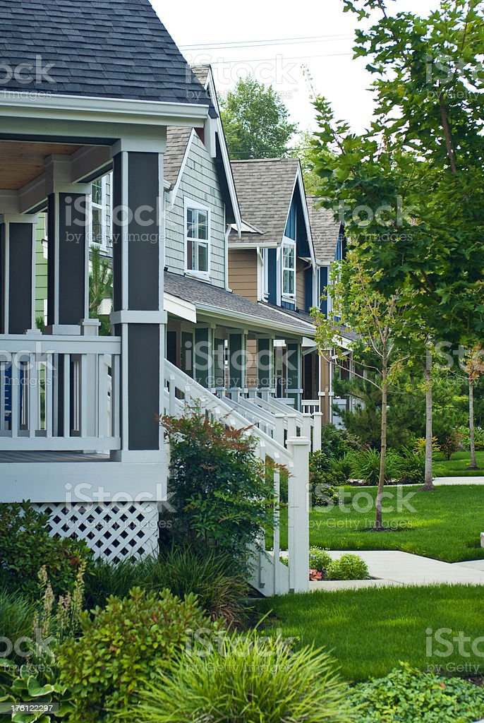 All American residential neighborhood royalty-free stock photo