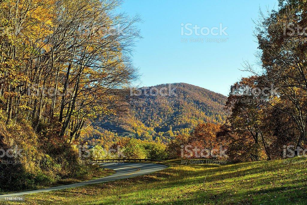 All American Road, Blue Ridge Parkway, North Carolina, USA stock photo