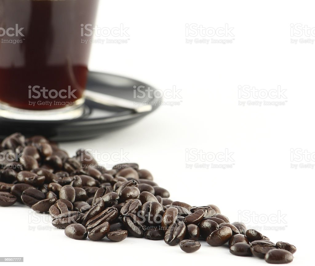 All beans lead to coffee stock photo