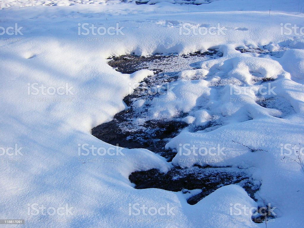 All Blue - Snow Formations in Sun royalty-free stock photo