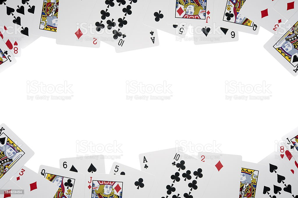 All cards isolated on white royalty-free stock photo